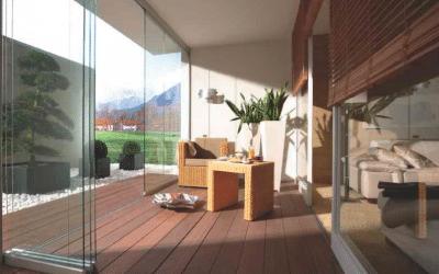 Paneles deslizantes para terrazas, patios, balcones