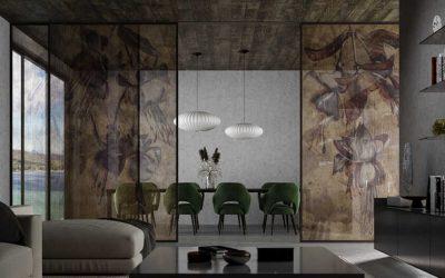 Dividir las habitaciones con paredes de vidrio