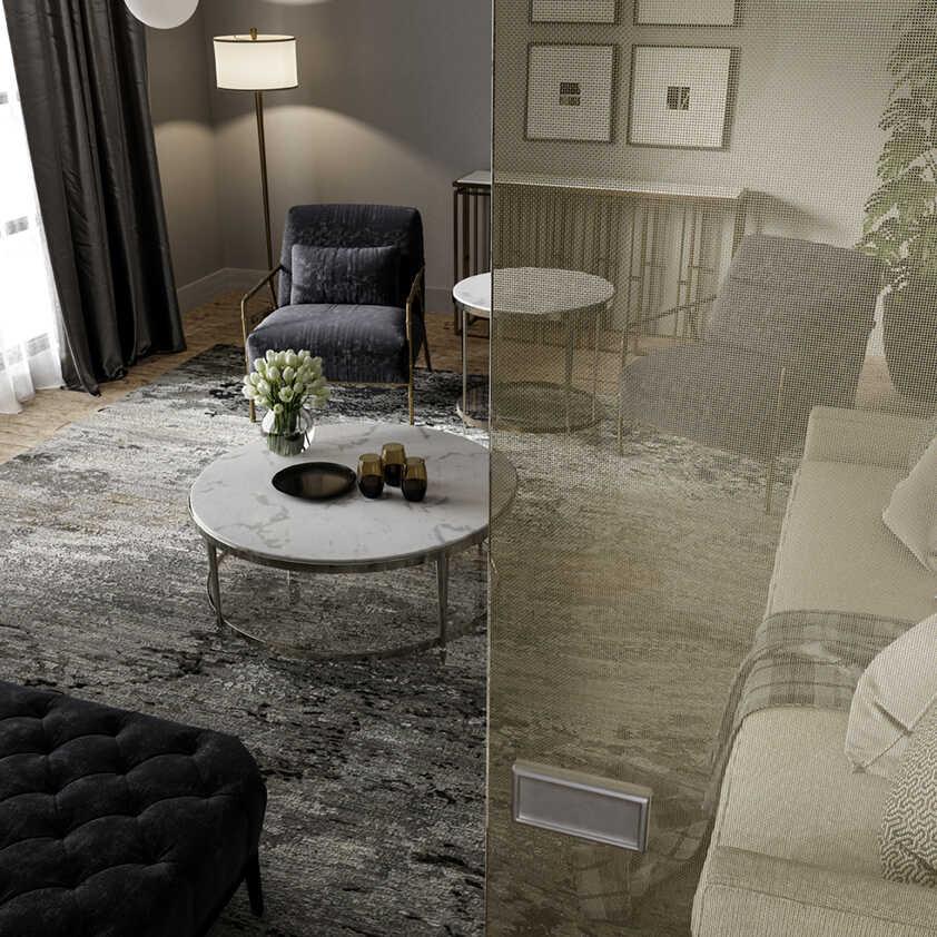 dividir las habitaciones Vidrio decorativo