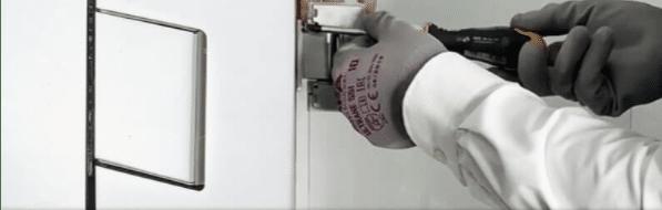nueva bisagra regulable para vidrio templado